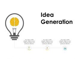 Idea Generation Technology L782 Ppt Powerpoint Presentation Infographics