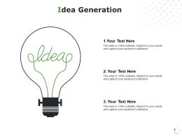 Idea Generation Technology Planning C191 Ppt Powerpoint Presentation Gallery Visual Aids