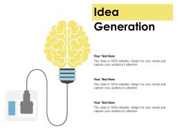 Idea Generation Technology Ppt Powerpoint Presentation Icon Infographics