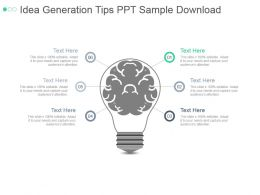 Idea Generation Tips Ppt Sample Download