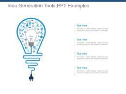 Idea Generation Tools Ppt Examples