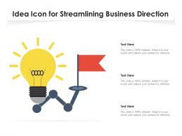 Idea Icon For Streamlining Business Direction