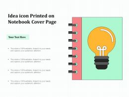 Idea Icon Printed On Notebook Cover Page