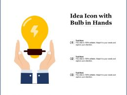 Idea Icon With Bulb In Hands
