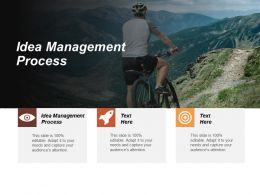 Idea Management Process Ppt Powerpoint Presentation Infographic Template Tips Cpb