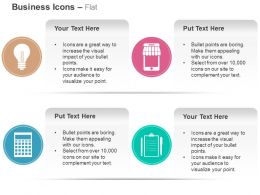 Idea Mobile Shopping Checklist Calculator Ppt Icons Graphics