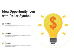Idea Opportunity Icon With Dollar Symbol