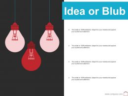 Idea Or Blub Ppt Summary Background Image