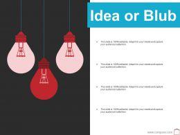 Idea Or Blub Ppt Summary Background Image