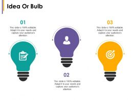 Idea Or Bulb Change Management Introduction Ppt Icon Information