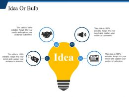 Idea Or Bulb Example Of Ppt Presentation