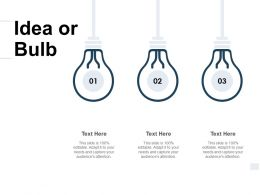 Idea Or Bulb Innovation A131 Ppt Powerpoint Presentation Icon Pictures