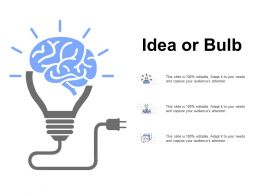 Idea Or Bulb Innovation Management K267 Ppt Powerpoint Presentation Slide Portrait