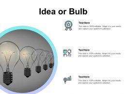 Idea Or Bulb Innovation Portfolio F701 Ppt Powerpoint Presentation Summary Visuals