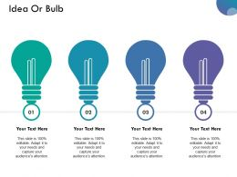 Idea Or Bulb Powerpoint Slide Background Image Ppt Examples Professional