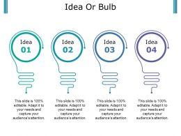 Idea Or Bulb Powerpoint Slides Templates