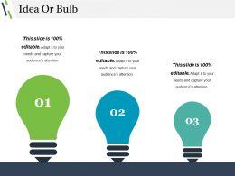 Idea Or Bulb Powerpoint Templates Microsoft