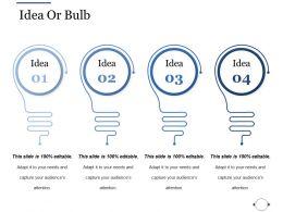 Idea Or Bulb Ppt File Inspiration