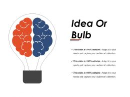 Idea Or Bulb Ppt Infographics
