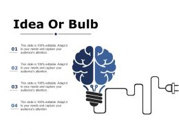 Idea Or Bulb Ppt Portfolio Brochure