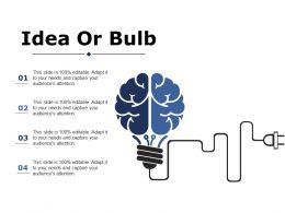 Idea Or Bulb Ppt Portfolio Brochure