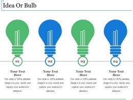 Idea Or Bulb Presentation Background Images