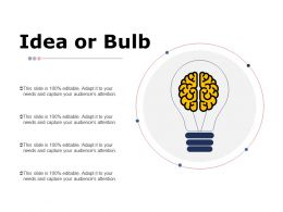 Idea Or Bulb Technology I60 Ppt Powerpoint Presentation File Example Introduction