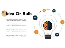 Idea Or Bulb Technology Marketing Ppt Powerpoint Presentation Icon Examples