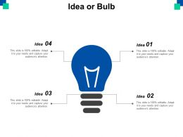 Idea Or Bulb Technology Ppt Powerpoint Presentation Diagram Images