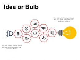 Idea Or Bulb Technology Ppt Powerpoint Presentation Inspiration Background Designs