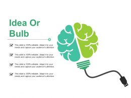 Idea Or Bulb With Brain Ppt Summary Designs Download