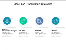 Idea Pitch Presentation Strategies Ppt Powerpoint Presentation Ideas Grid Cpb