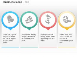 Idea Safety Dollar Two Way Process Global Protection Ppt Icons Graphics