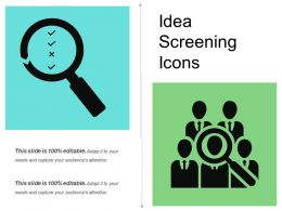 Idea Screening Icons