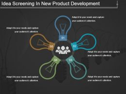 Idea Screening In New Product Development Powerpoint Slide Rules
