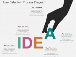 Idea Selection Process Diagram Flat Powerpoint Desgin