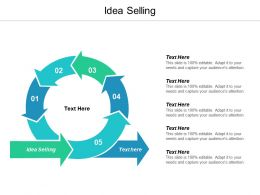 Idea Selling Ppt Powerpoint Presentation Slides Templates Cpb