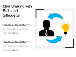 Idea Sharing With Bulb And Silhouette