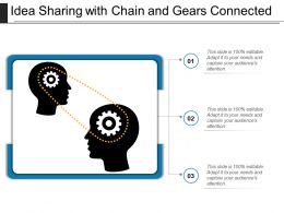 Idea Sharing With Chain And Gears Connected