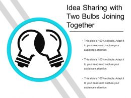 Idea Sharing With Two Bulbs Joining Together