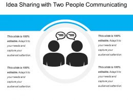 Idea Sharing With Two People Communicating