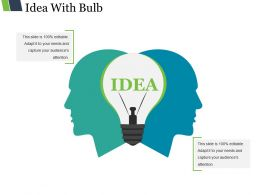 Idea With Bulb Presentation Pictures