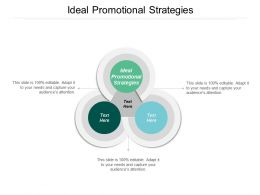 Ideal Promotional Strategies Ppt Powerpoint Presentation Gallery Microsoft Cpb