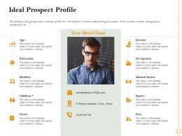 Ideal Prospect Profile Emailaddress Ppt Powerpoint Presentation Professional Deck