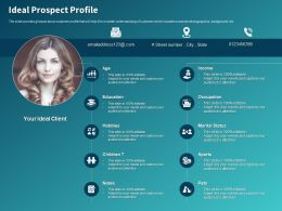 Ideal Prospect Profile Ppt Powerpoint Presentation Infographics Examples