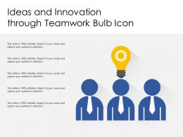 Ideas And Innovation Through Teamwork Bulb Icon