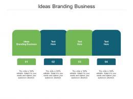 Ideas Branding Business Ppt Powerpoint Presentation Portfolio Design Templates Cpb