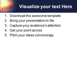 Ideas Business PowerPoint Template 0610  Presentation Themes and Graphics Slide03
