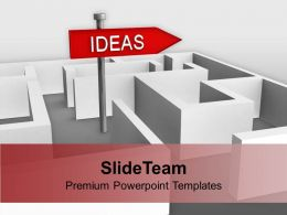Ideas Concept With Confused Path Signboard Powerpoint Templates Ppt Themes And Graphics 0113