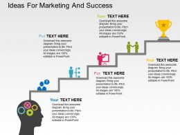 Ideas For Marketing And Success Flat Powerpoint Design